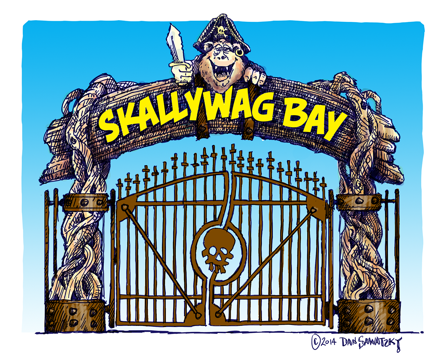 Scallywag Bay main entrance design