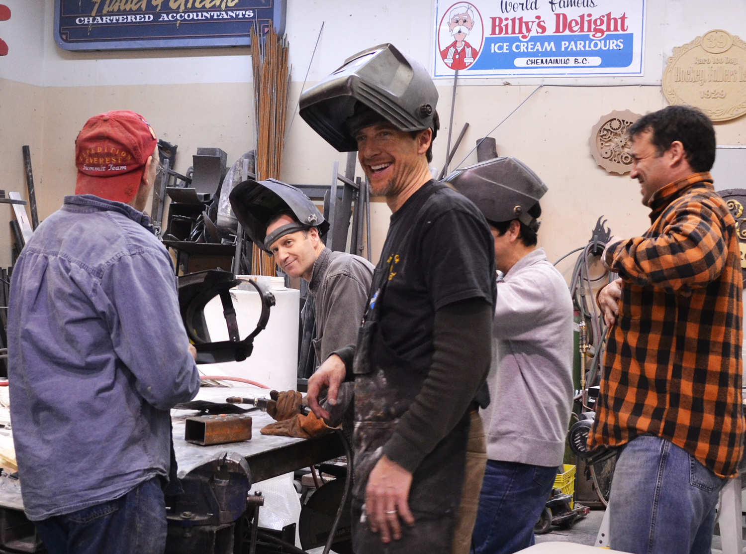 Workshop Participants learning to weld