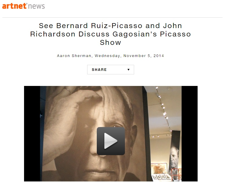 See Bernard Ruiz-Picasso and John Richardson Discuss Gagosian's Picasso Show