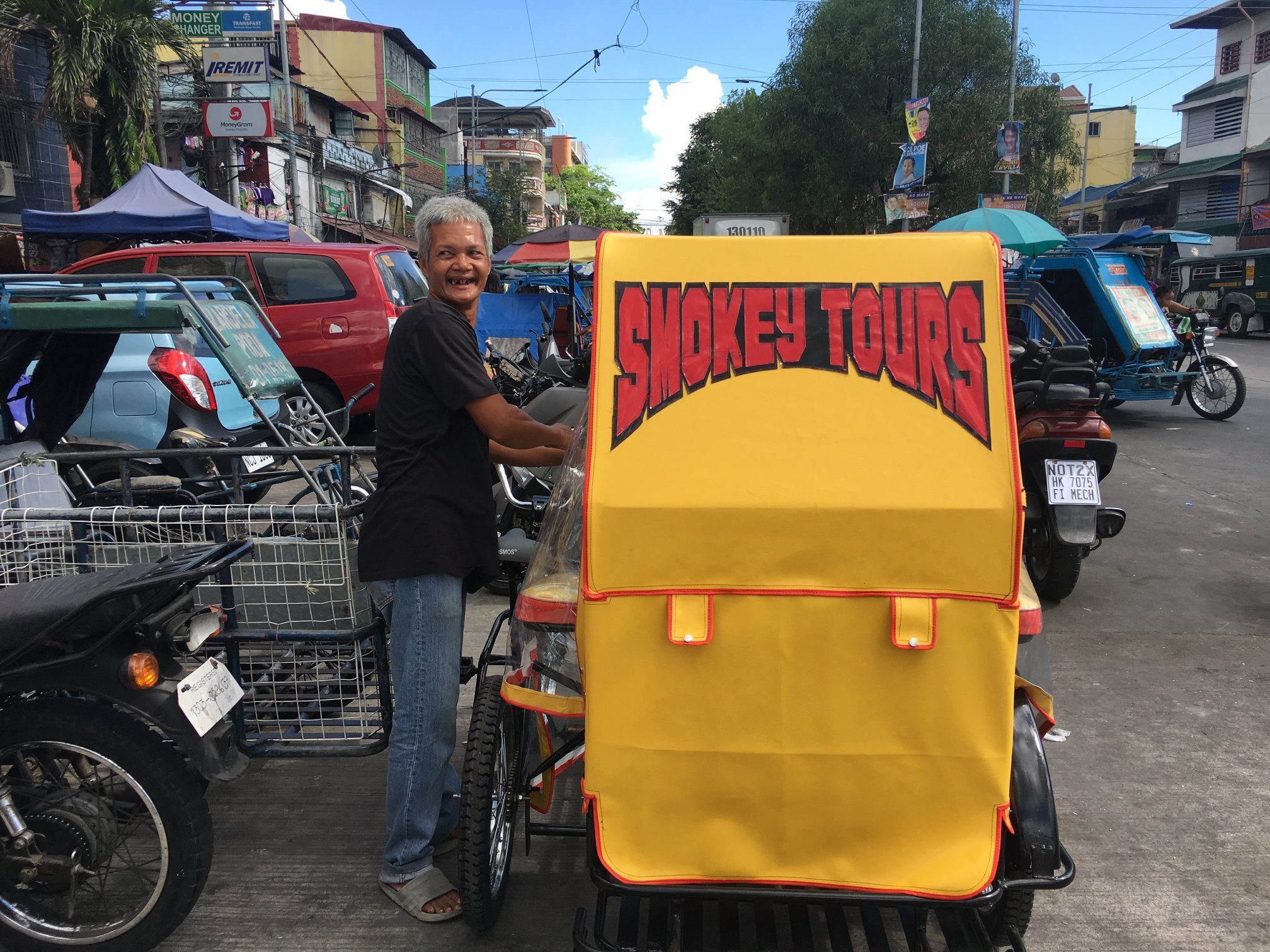 Mang Rodolfo with his E-Trike