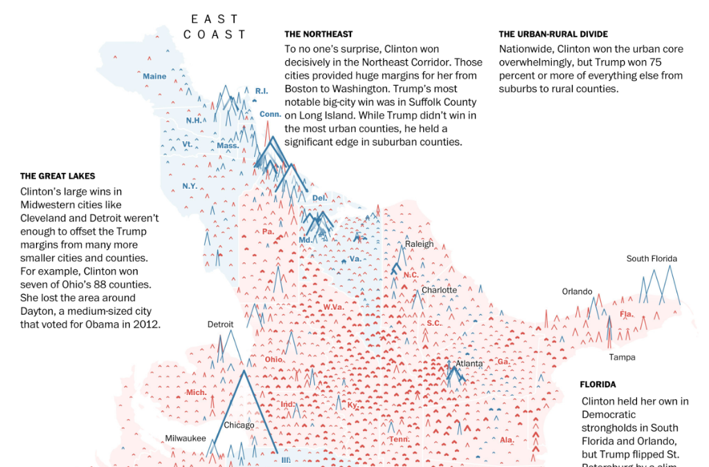 Washington Post's Nation of Peaks  Quelle: junkcharts / Washington Post