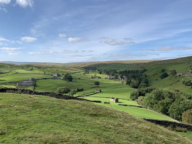 #Keld seen from Kisdon on a perfect late summer's day. #Swaledale #YorkshireDales