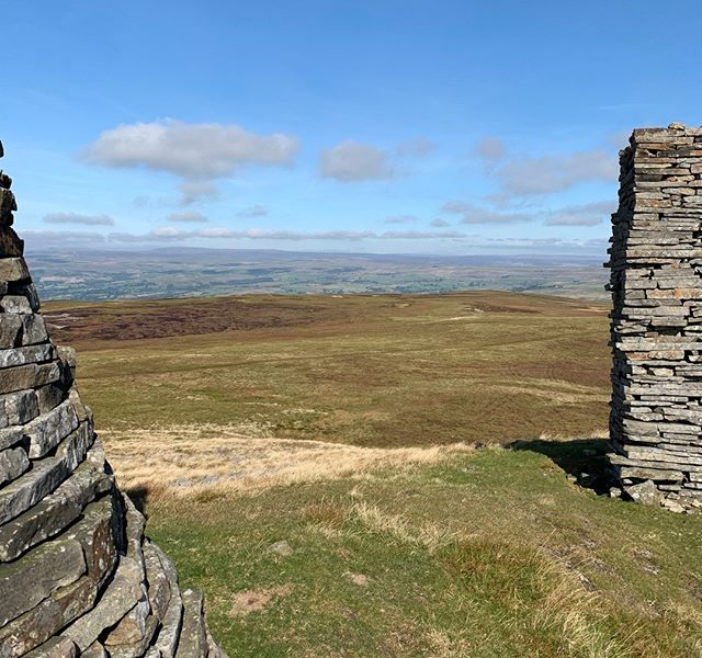 On top of the North Pennines at Nine Standards Rigg.