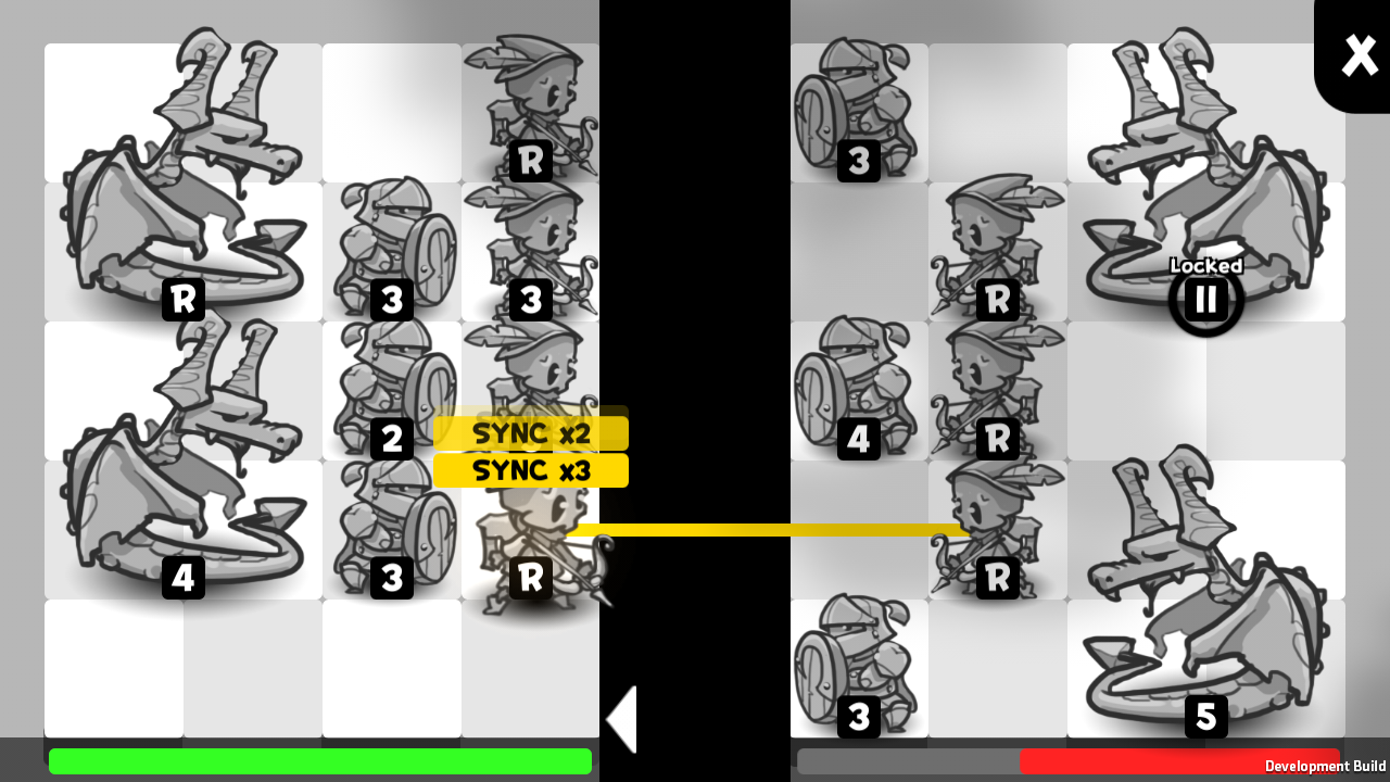 Battle, Action Phase - At end of turn, all readied units will take action. SYNC bonus takes place.