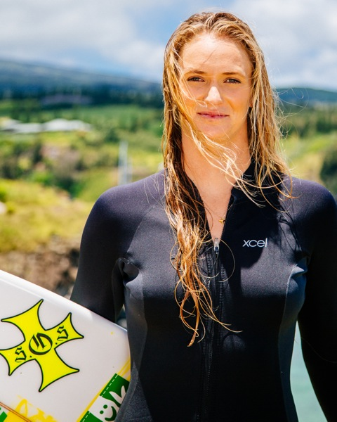 Paige Alms, (1988 – ) & Surfing