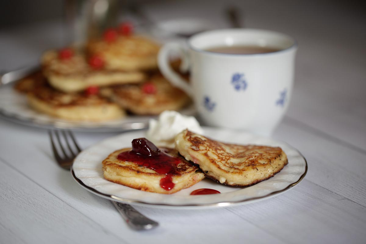 THE HIDDEN MATZO CHRONICLES, Book by Olya Benis. Russian Cheese Pancakes