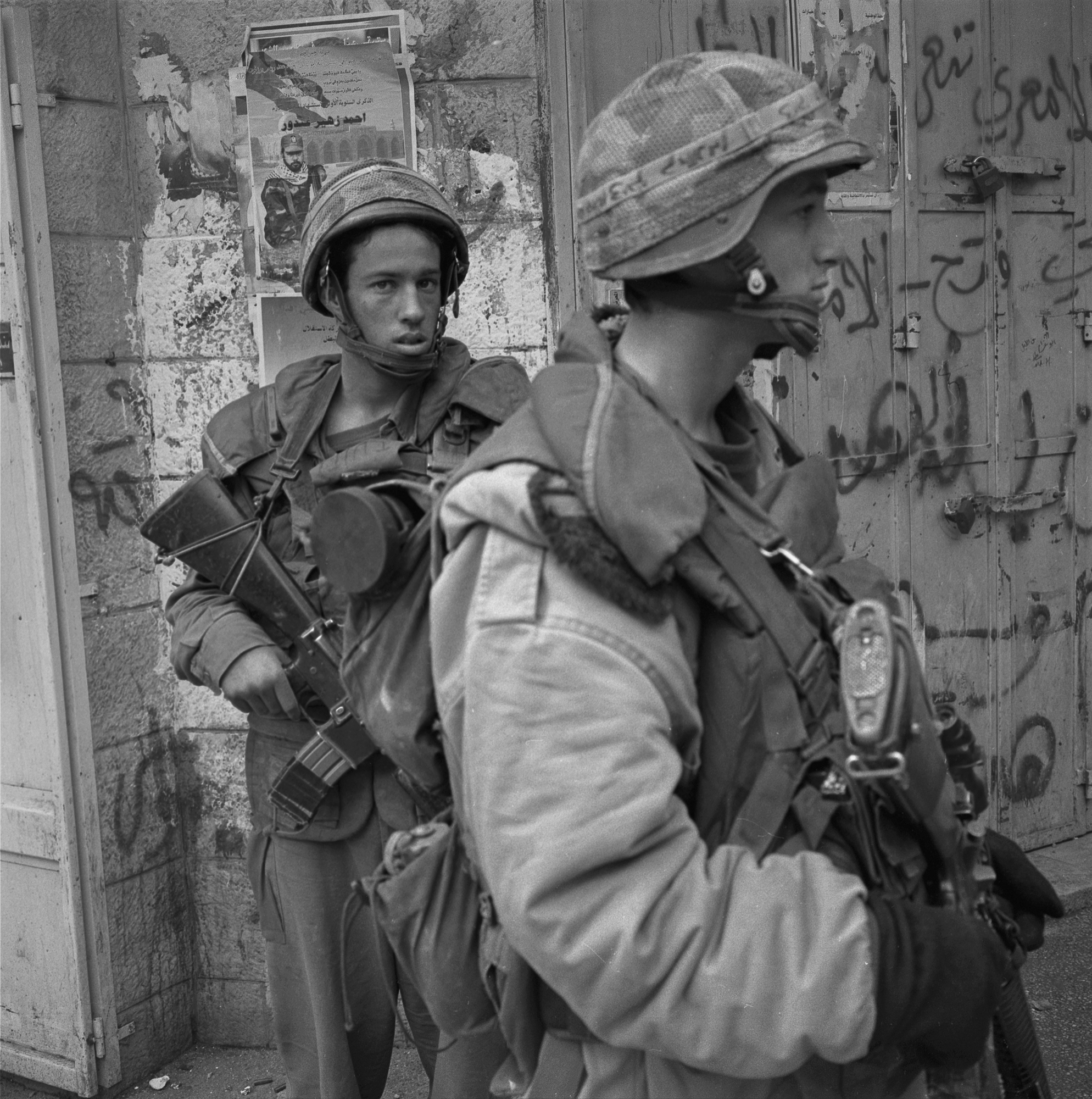 """Operation """"Defensive Shield"""", IDF incursion, Al-Manara Square, Ramallah, 2002."""