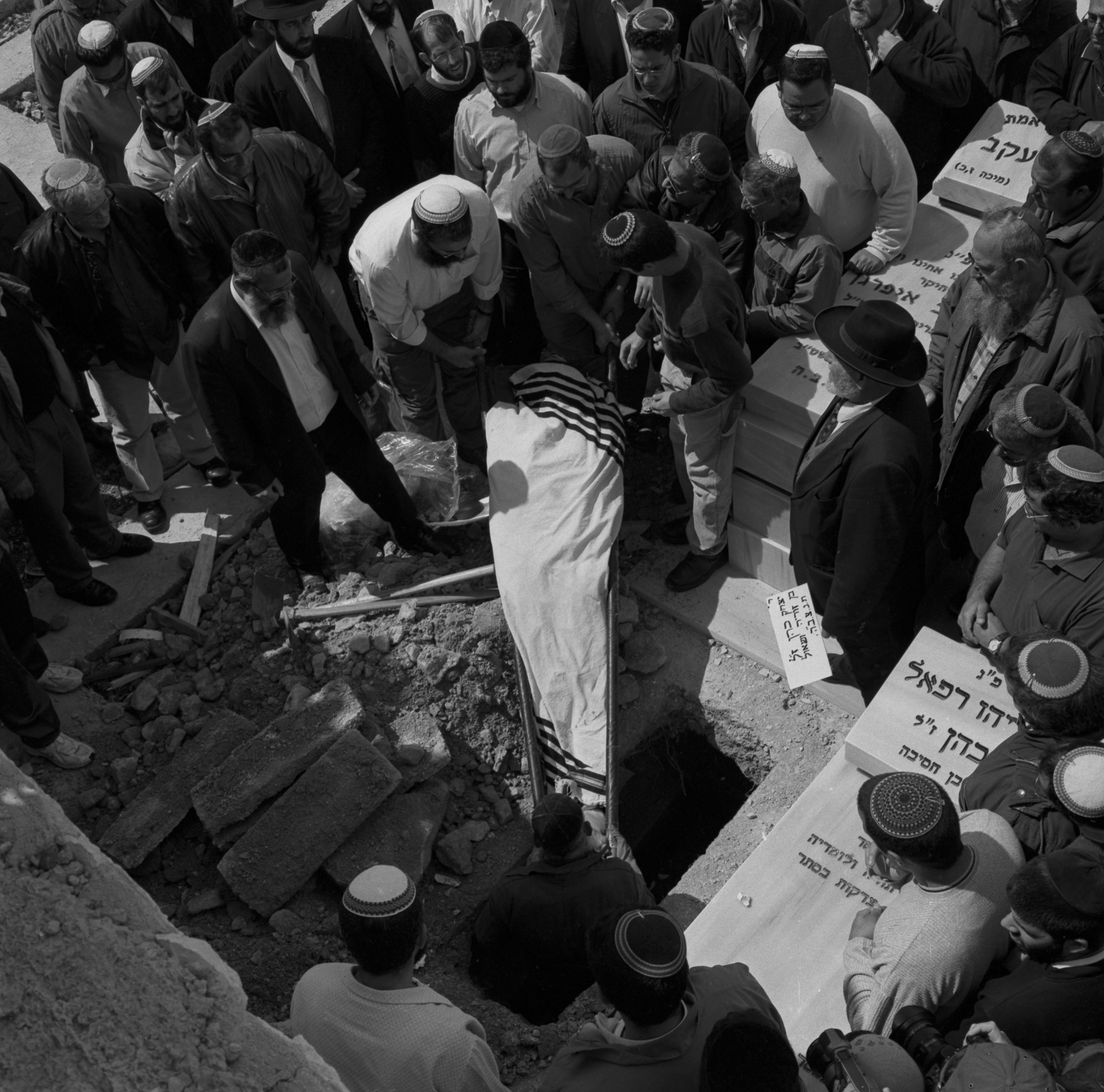 Funerals of of a victim of King George Street bombing where three people were killed in a suicide bombing, Jerusalem 2002.