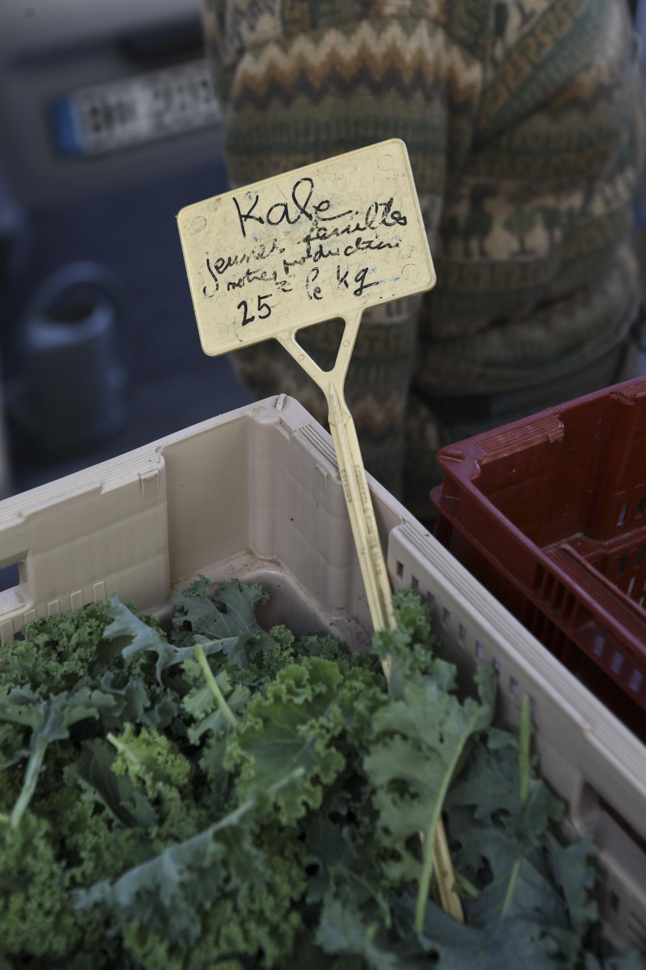 Raspail Organic Market. Hermione Boehrer's stall