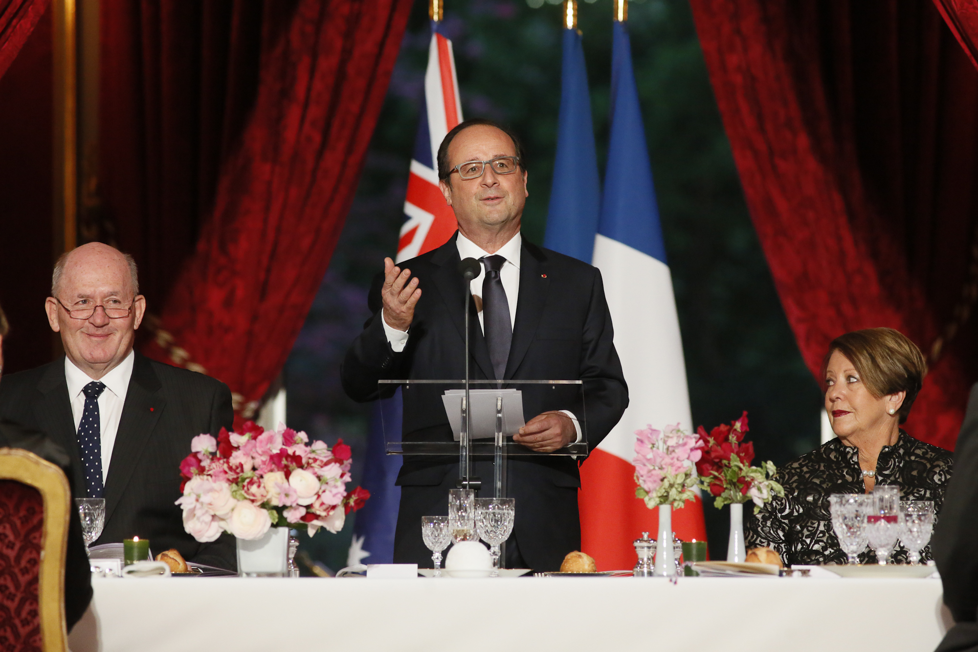 Official Dinner Ceremony Hosted by French President Francois Hollande, Palais de L'Elysee, Paris