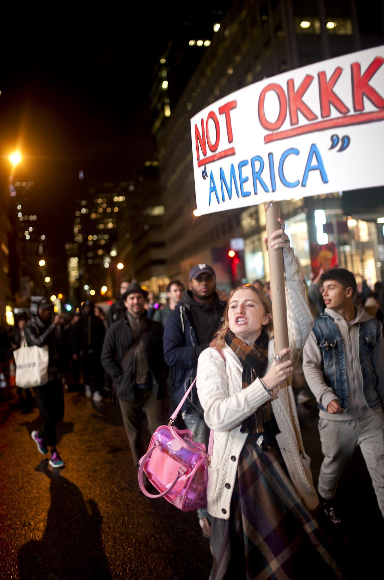 09.11.16: Anti-Trump Protest, 5th Avenue, New York.