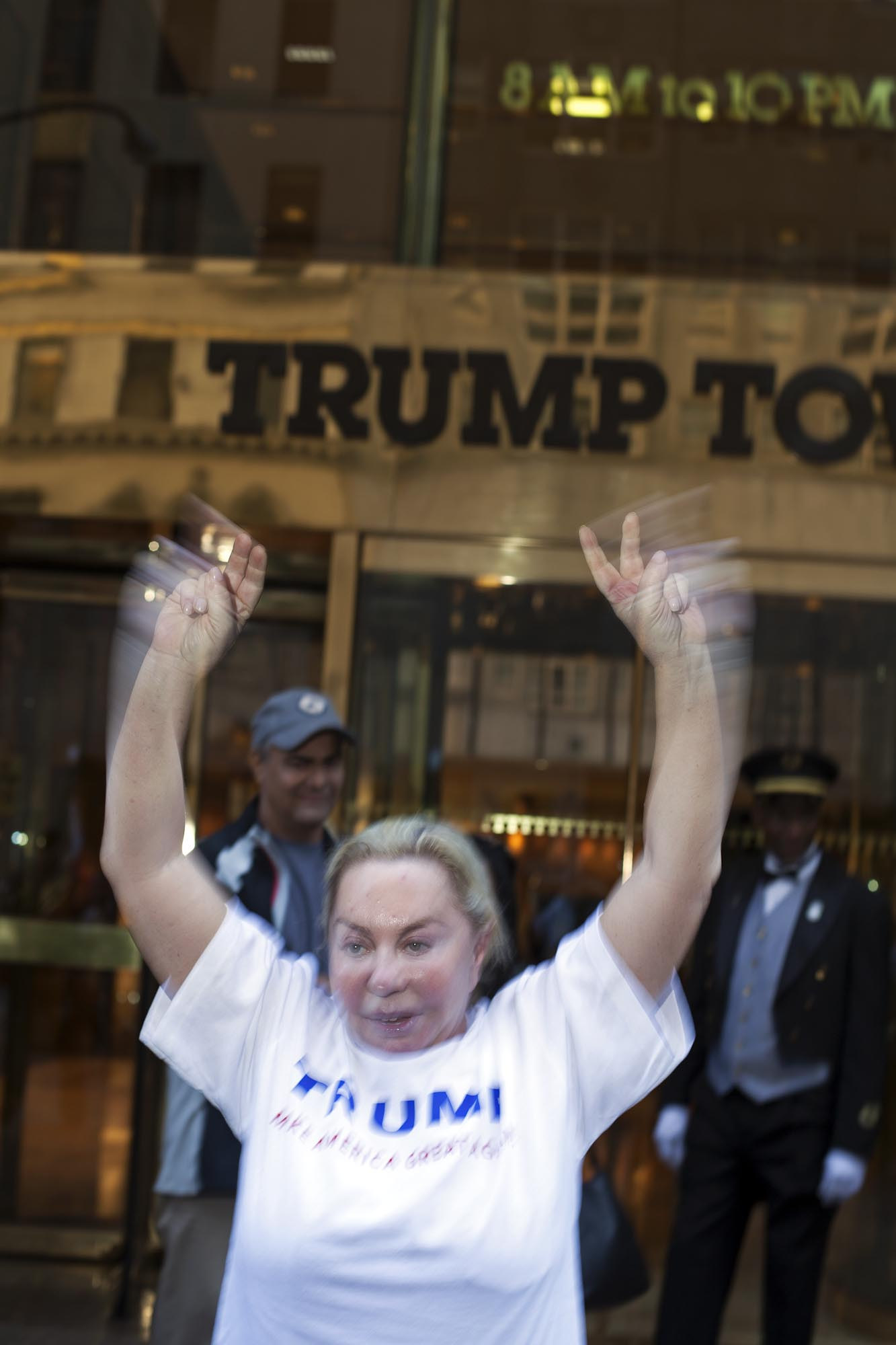 15.09.15: Trump Supporter in front of The Trump Tower, 5th Ave