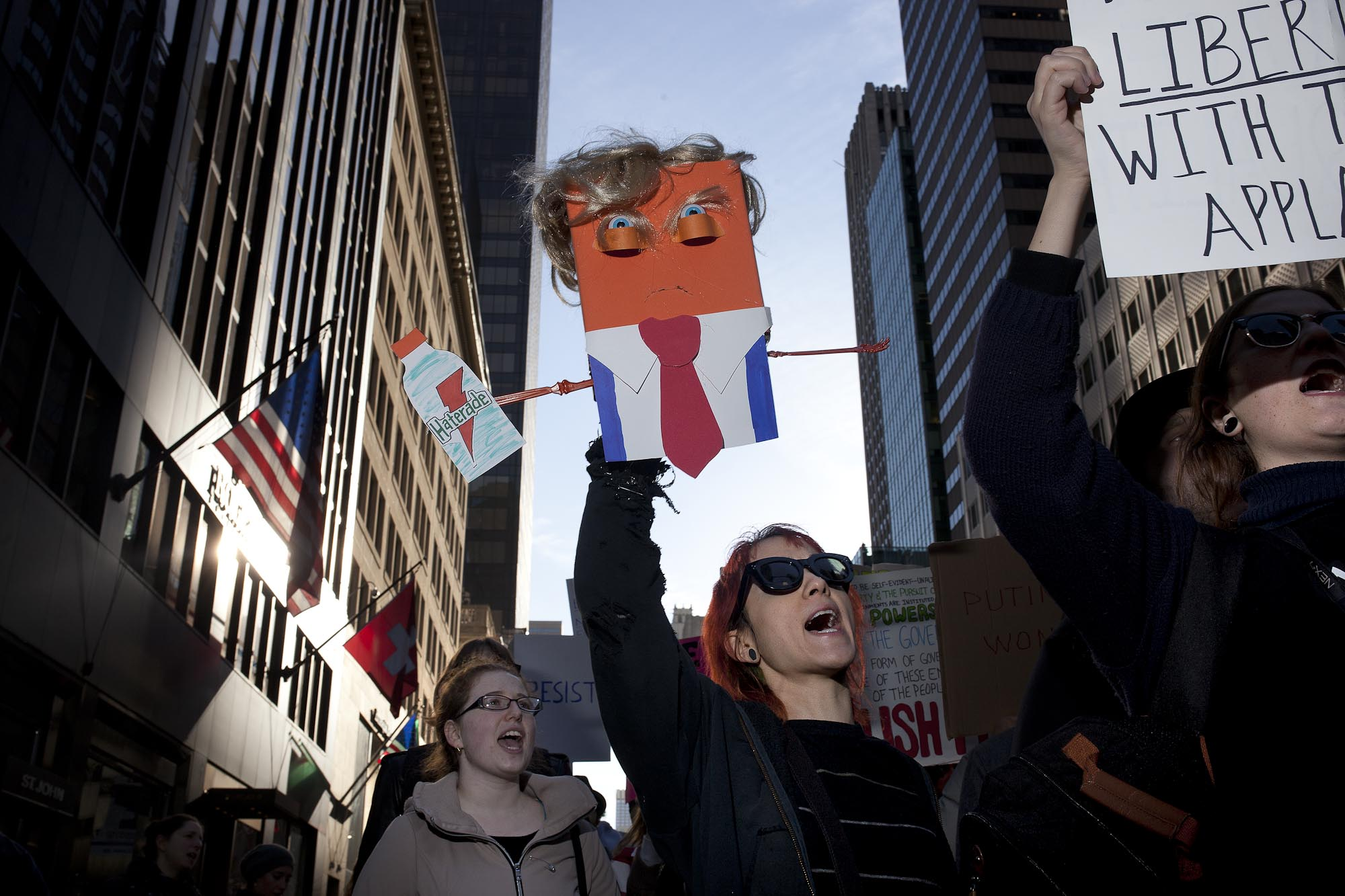 11.11.16: Rally against the election of Donald J Trump on 5th avenue, New York.