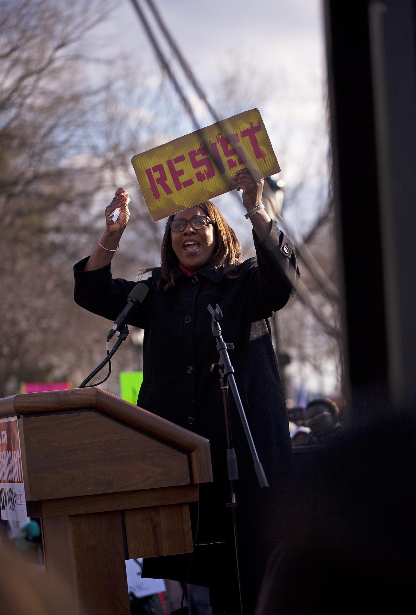 01.29.17: Letitia James, Public Advocate, Battery Park, Manhattan