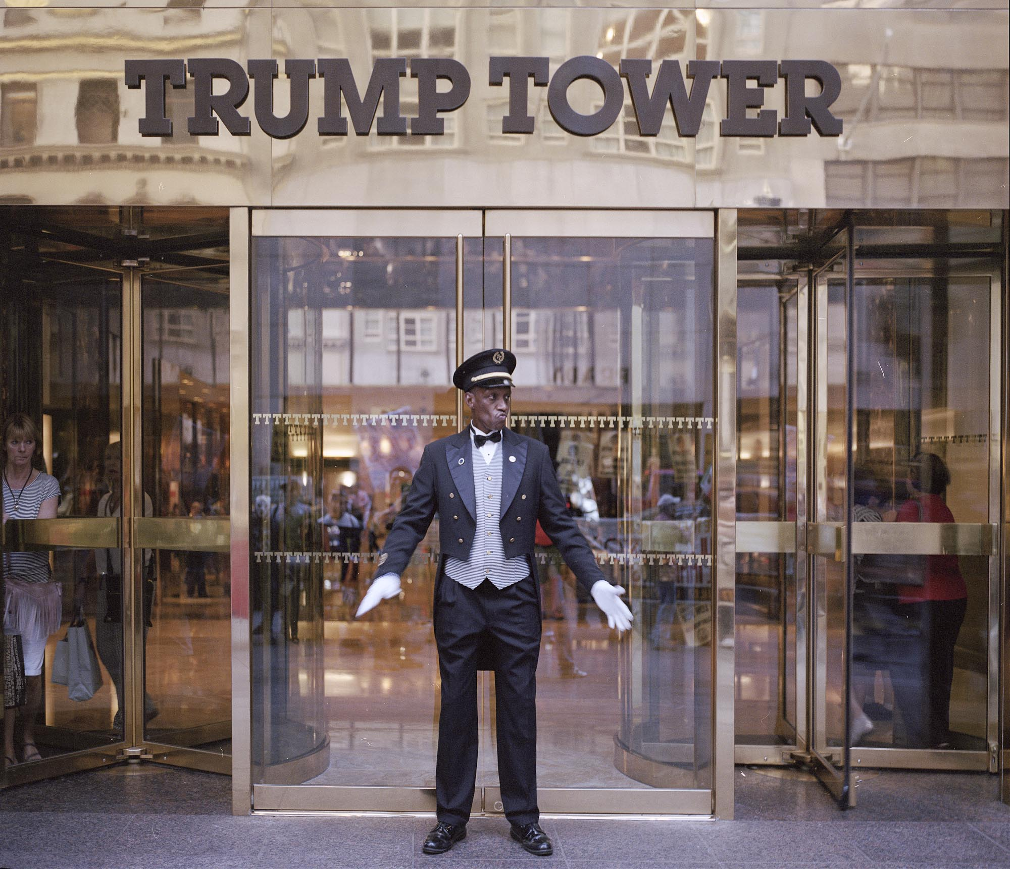 09.05.2015: Entrance Of the Trump Tower, Manhattan.