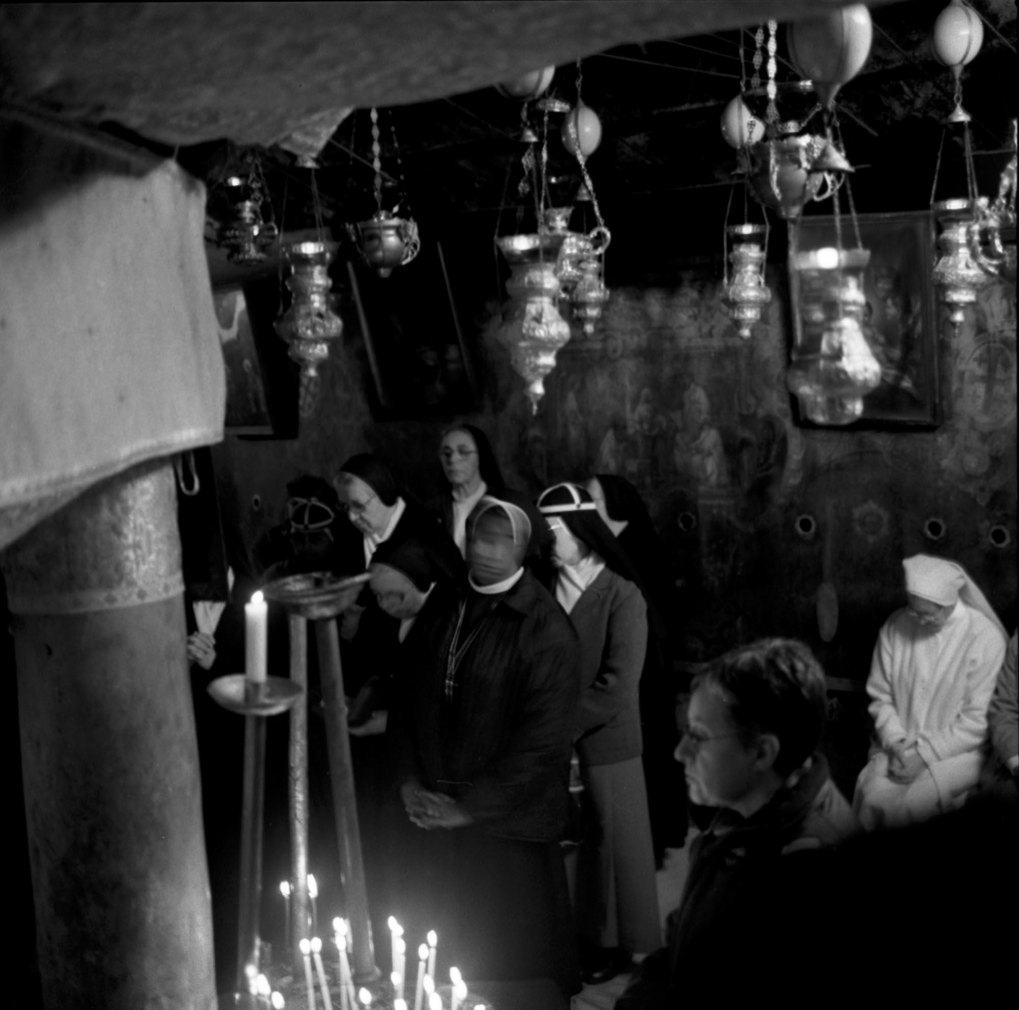 In The Crypt Of the Church of Nativity, Bethlehem, Christmas Eve, 2002