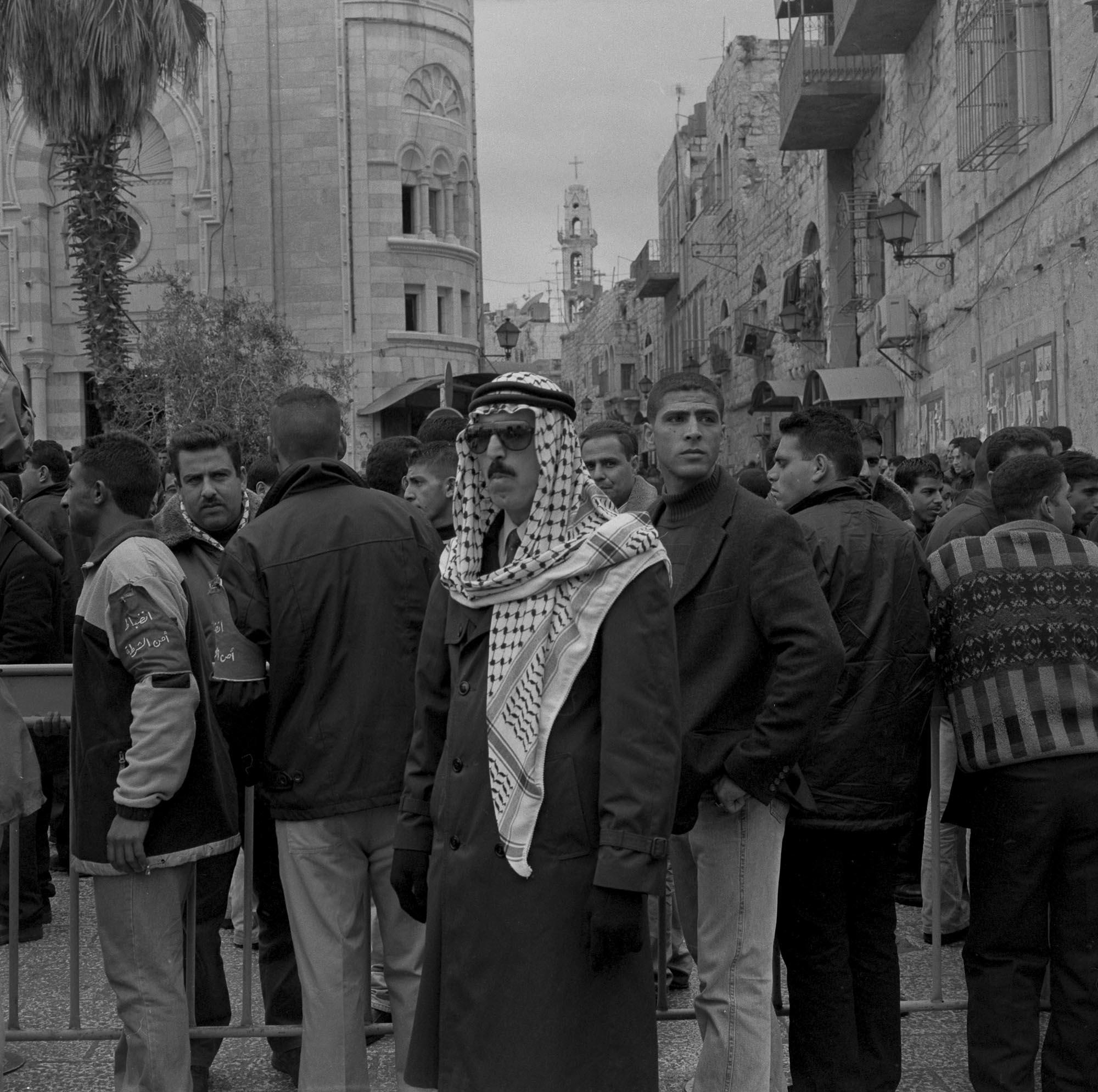 Bethlehem, Manger Square, Christmas Day, 2002