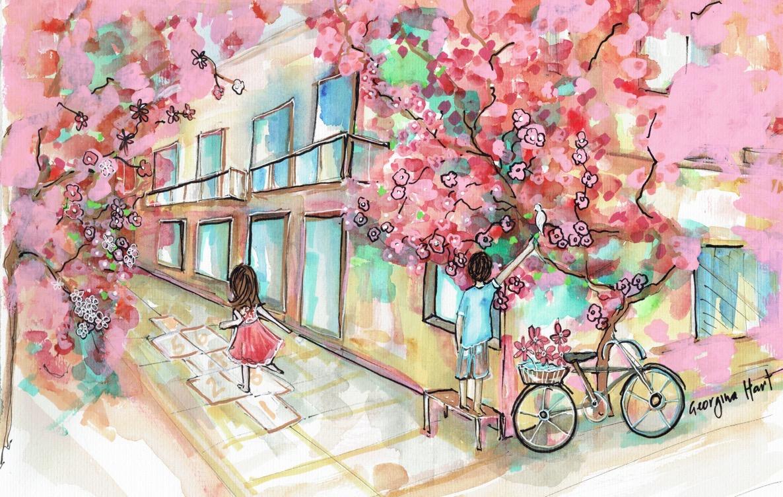 Hopscotch 30cm x 42cm watercolour.jpg