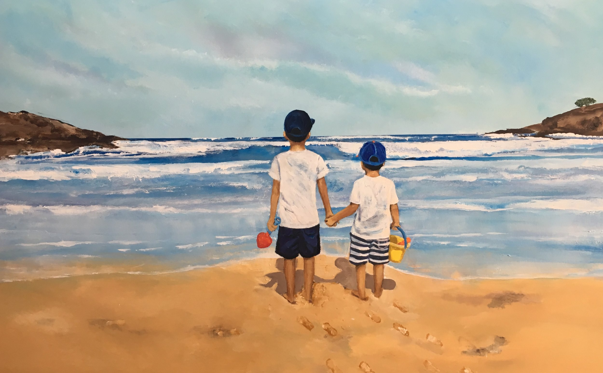 Brothers at Curl Curl Beach -