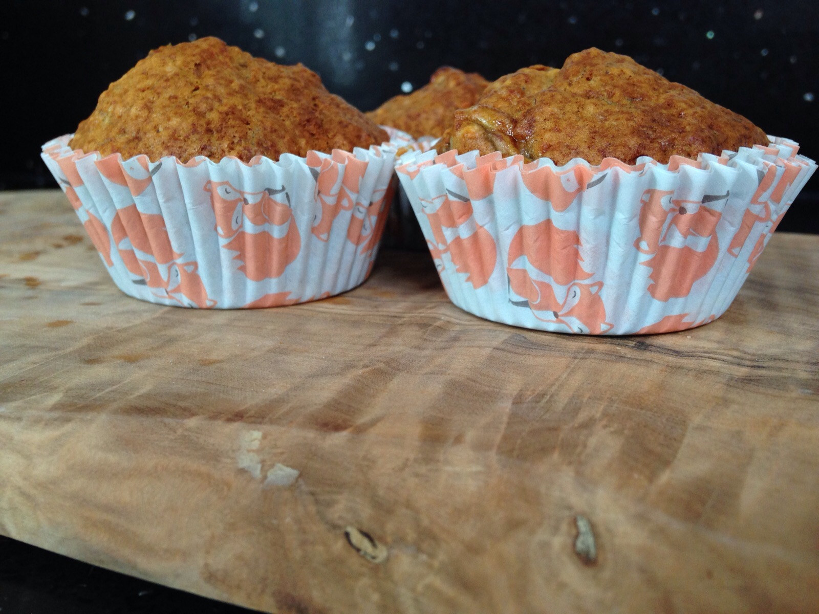 The cupcake cases have foxes on them - so cool! From one of our parents :-)