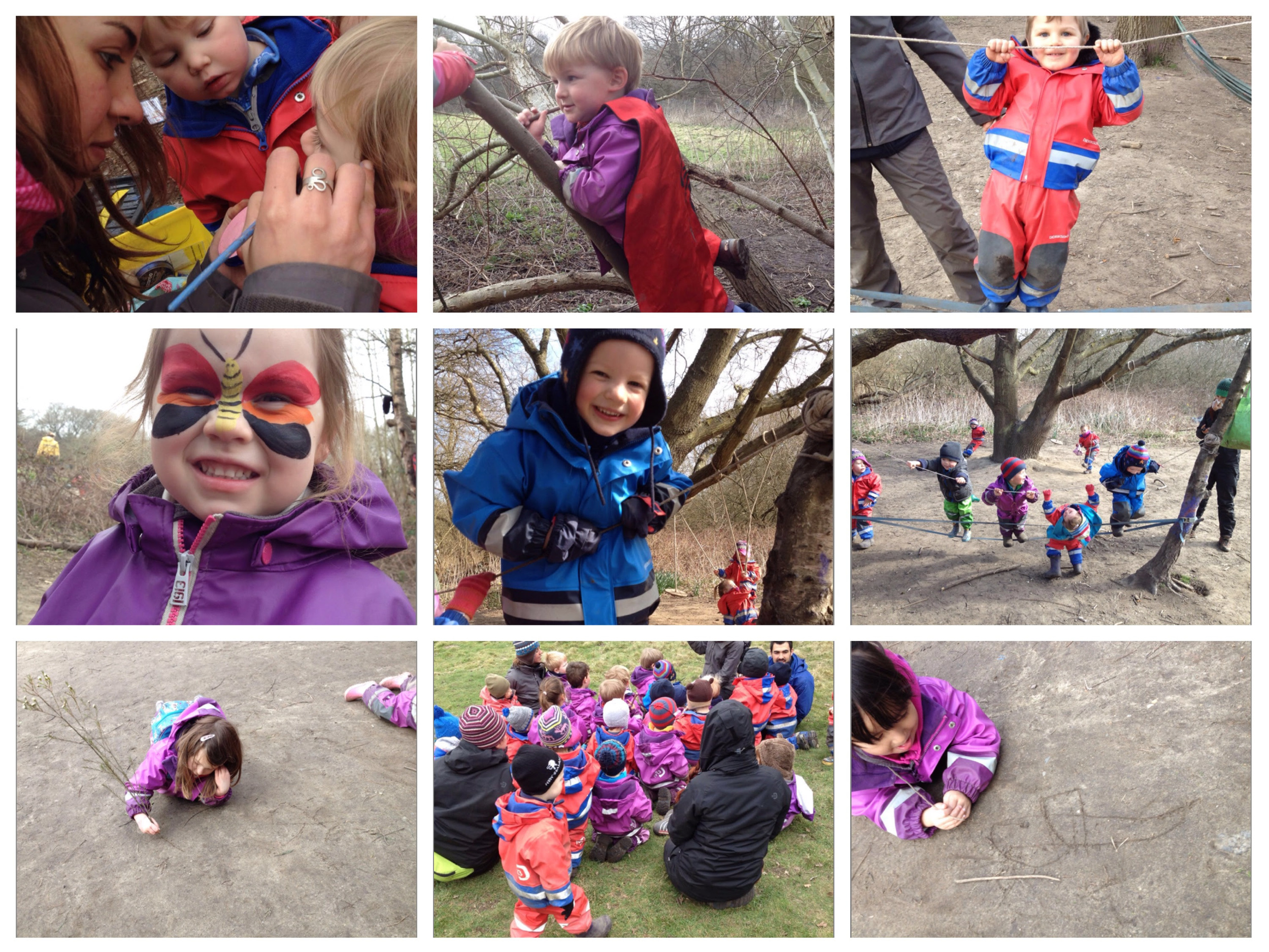 Face painting and stories