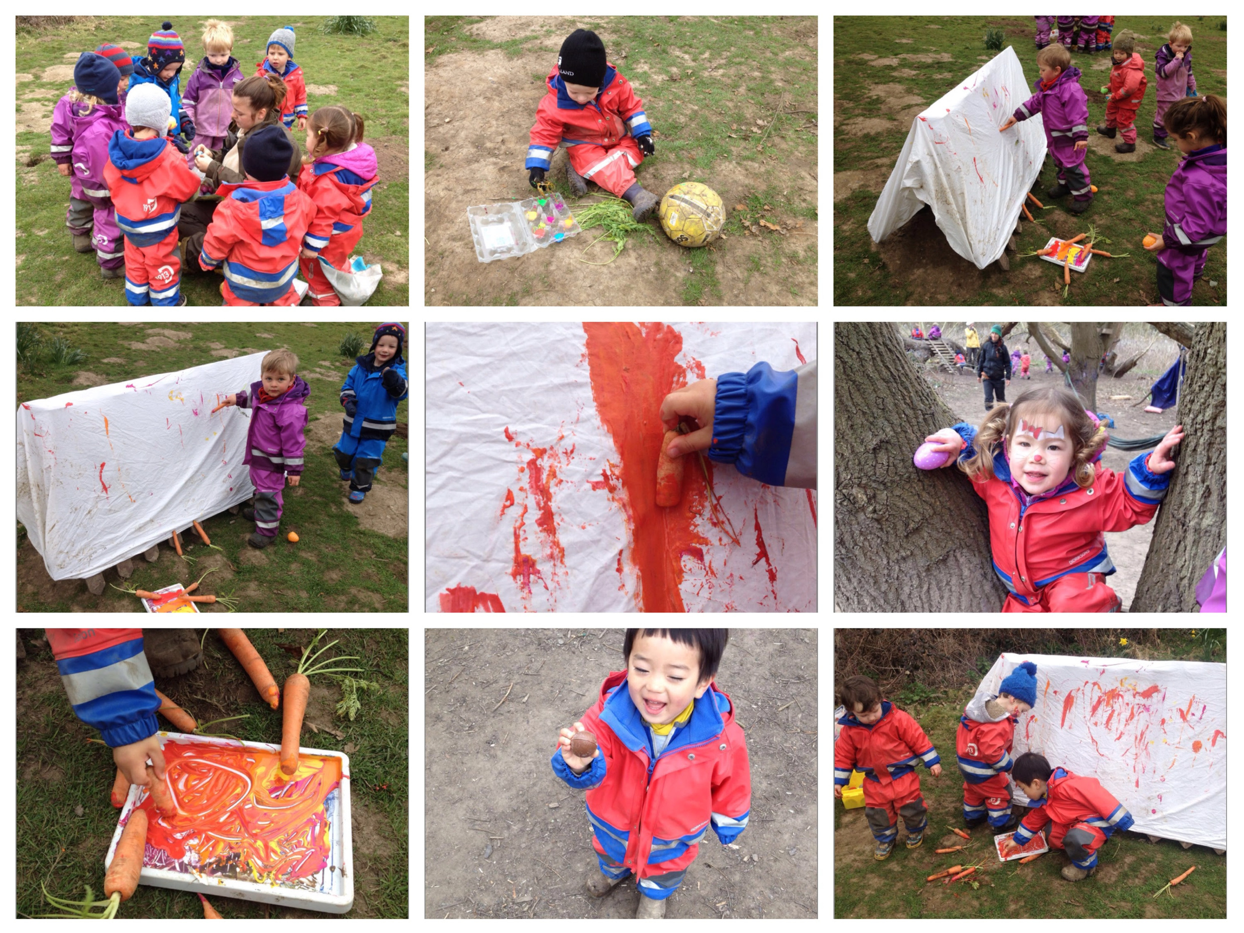 Painting in the forest