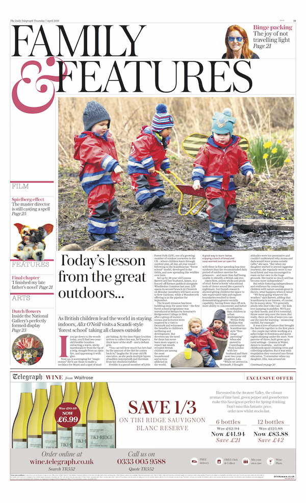 Little Forest Folk featured in The Telegraph