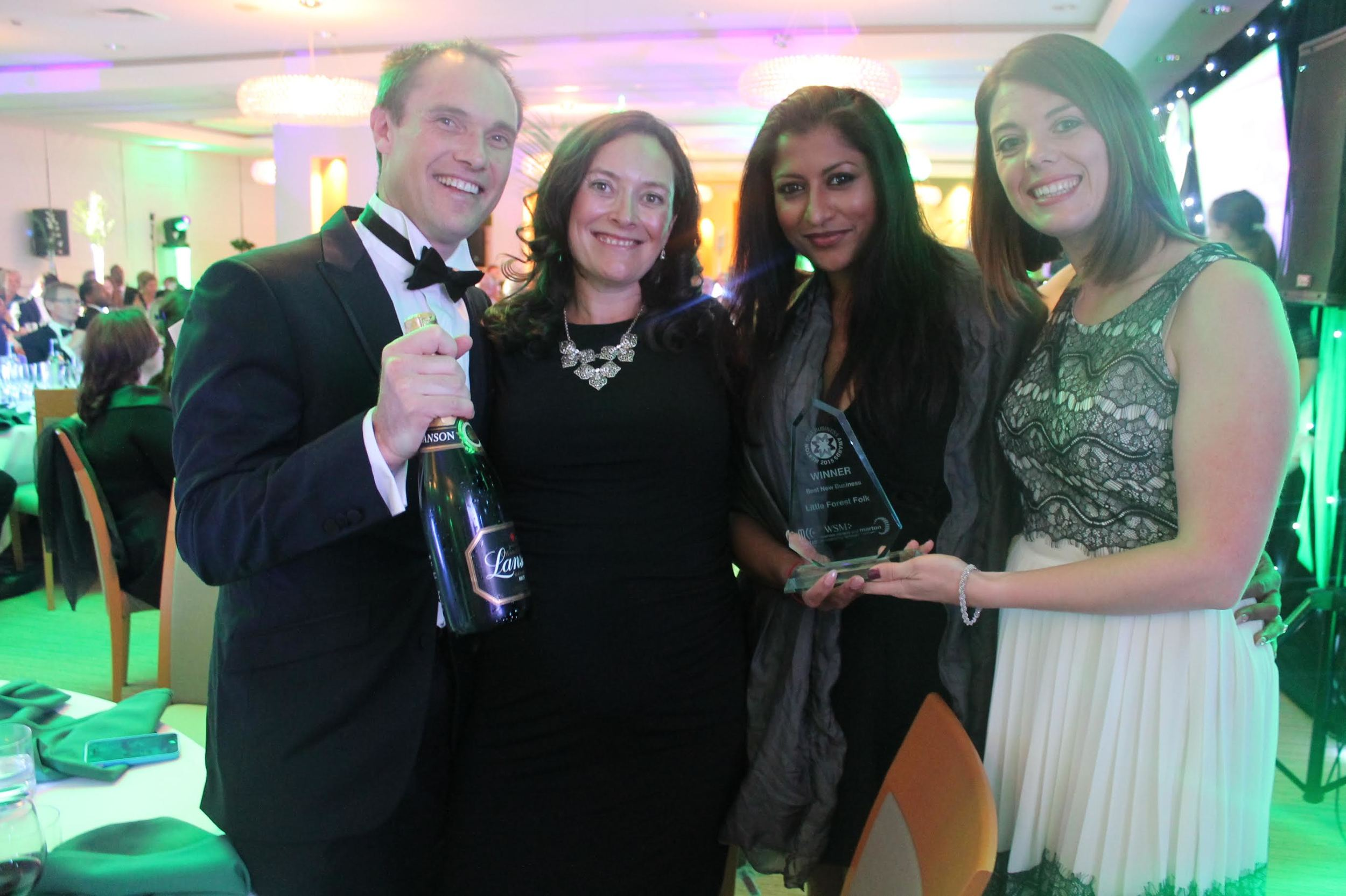 All glammed up at the Merton's best business awards ceremony - no mud in sight ;-)