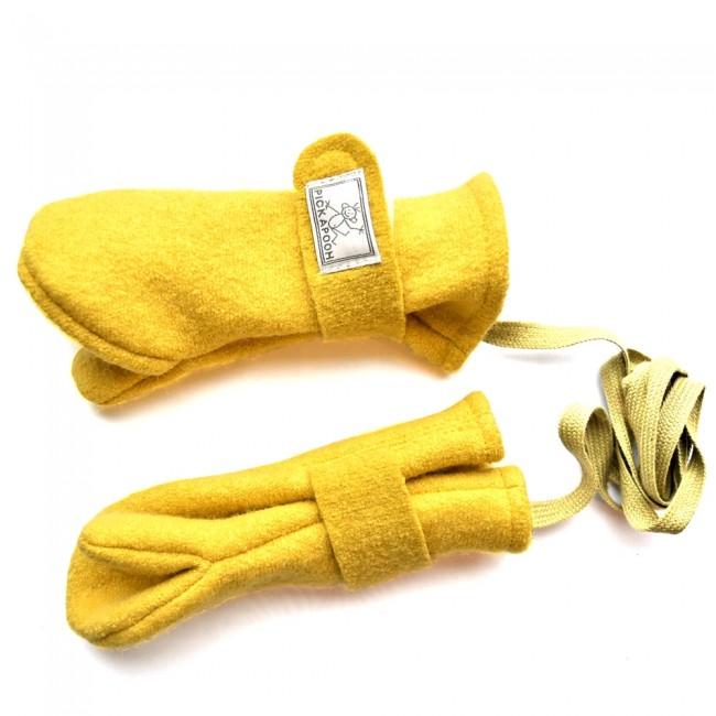 Organic boiled wool gloves, Lana Bambini