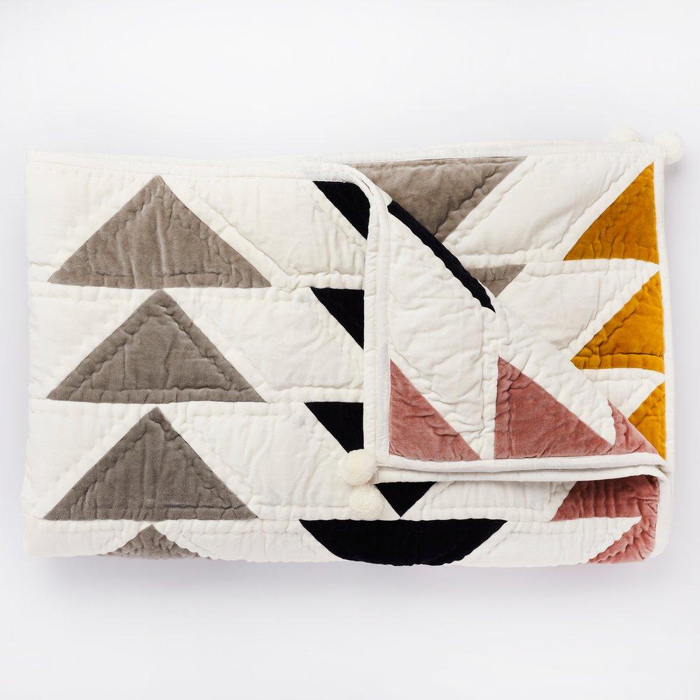 Projekt Tyyny patchwork velvet blanket, £196