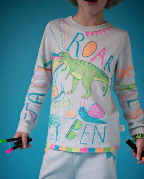 design your own kids cotton pyjamas