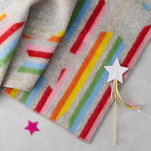 100% wool blanket striped