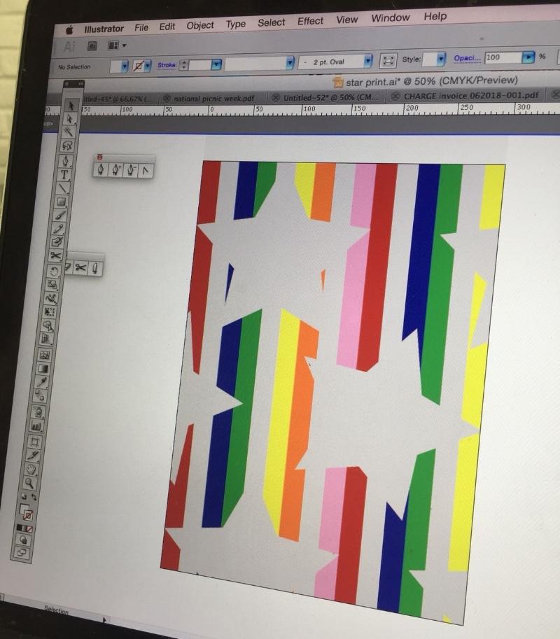 wool blanket stripes stars.JPG