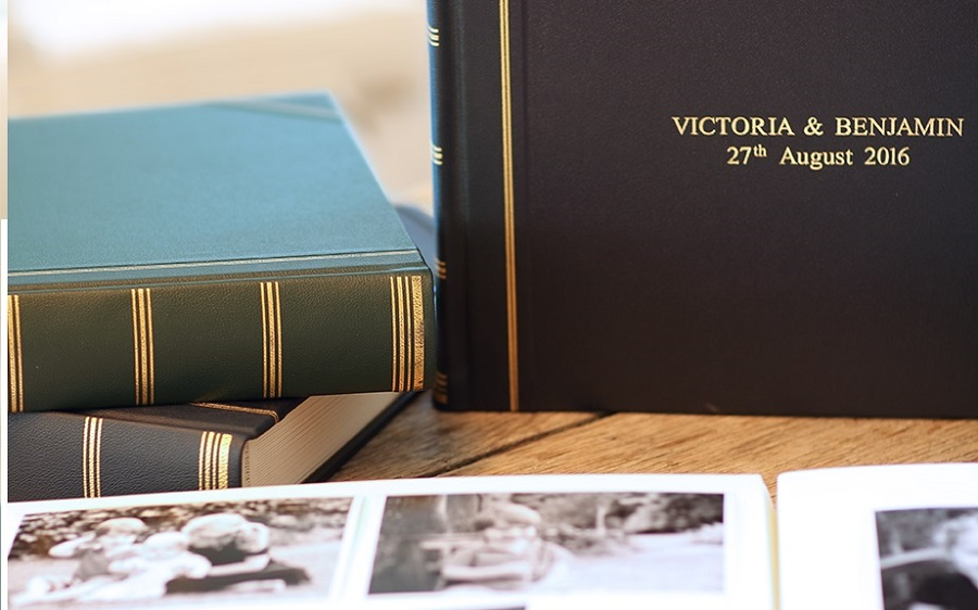 leather photo album wedding gift
