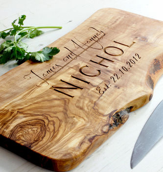 personalised cheeseboard gift idea