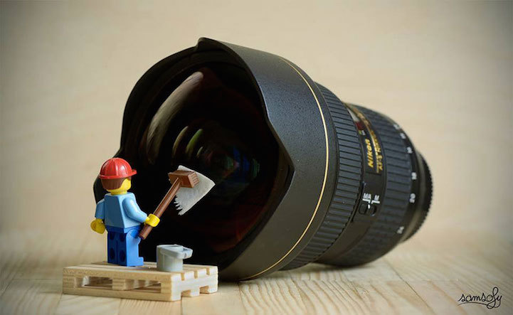Vivid Content Marketing lego lens