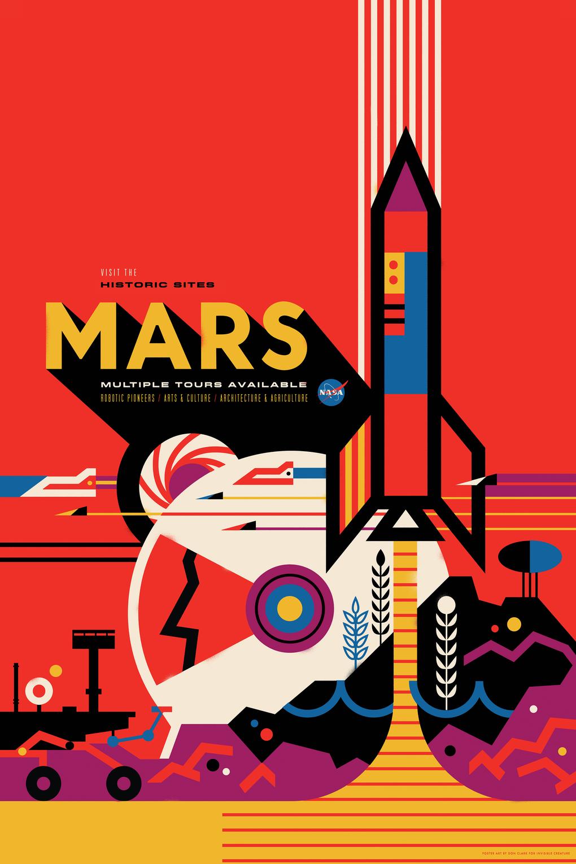 Vivid Content Marketing NASA space tourism poster3