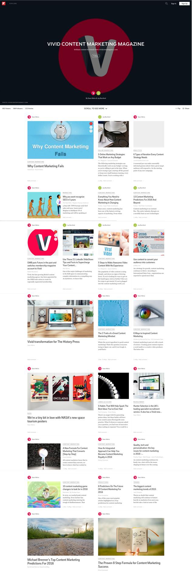 Vivid Content Marketing Flipboard