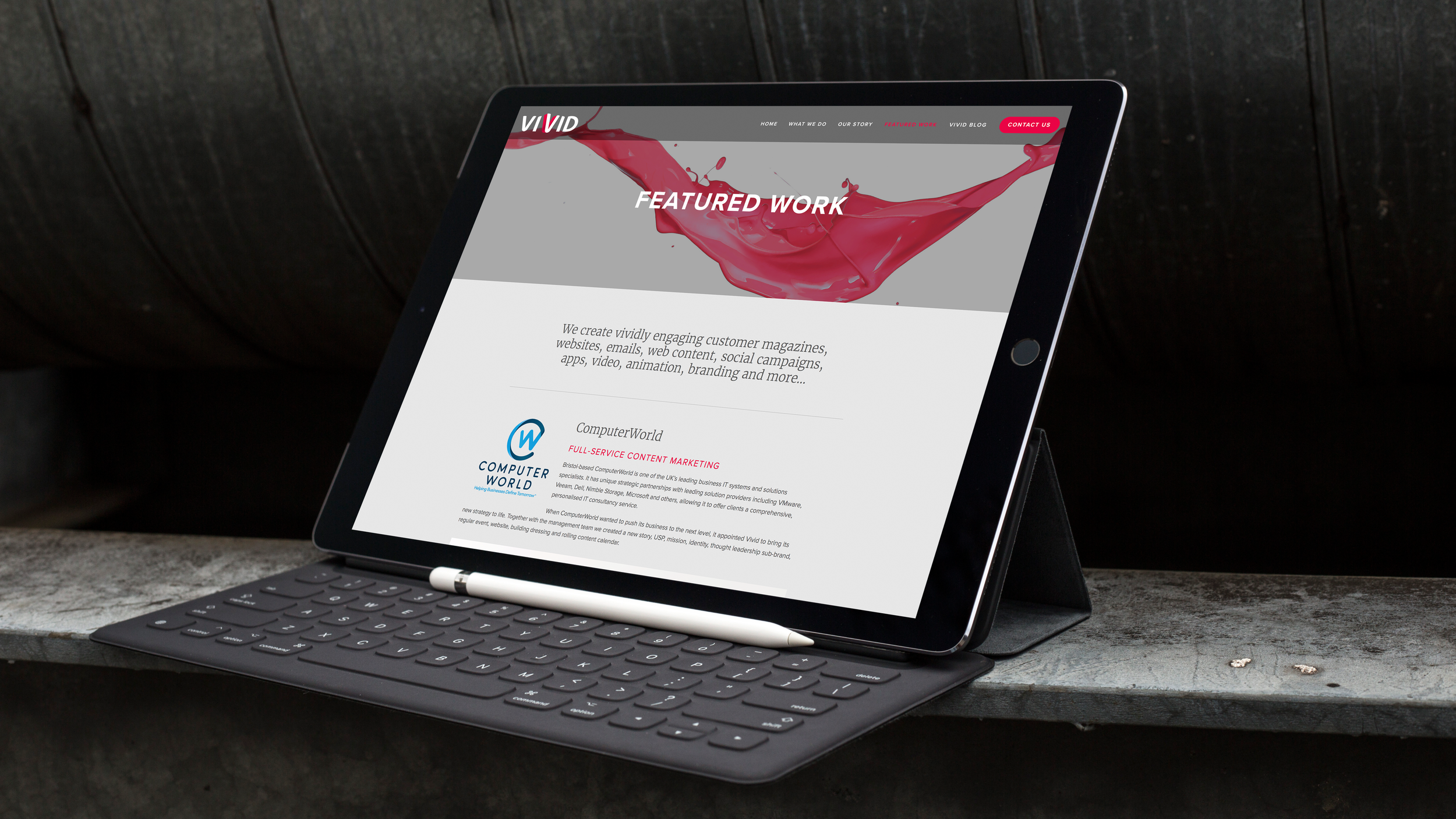 vivid content marketing featured work