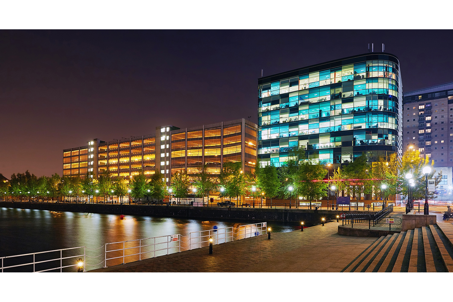 Architectural photography exterior: Salford quays, Salford, Greater Manchester, UK. Image (C) Matthewlingphotography.co.uk