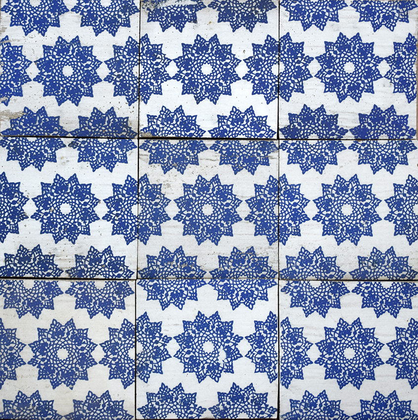 "Repeating 6"" Alborz Tile in Blue"