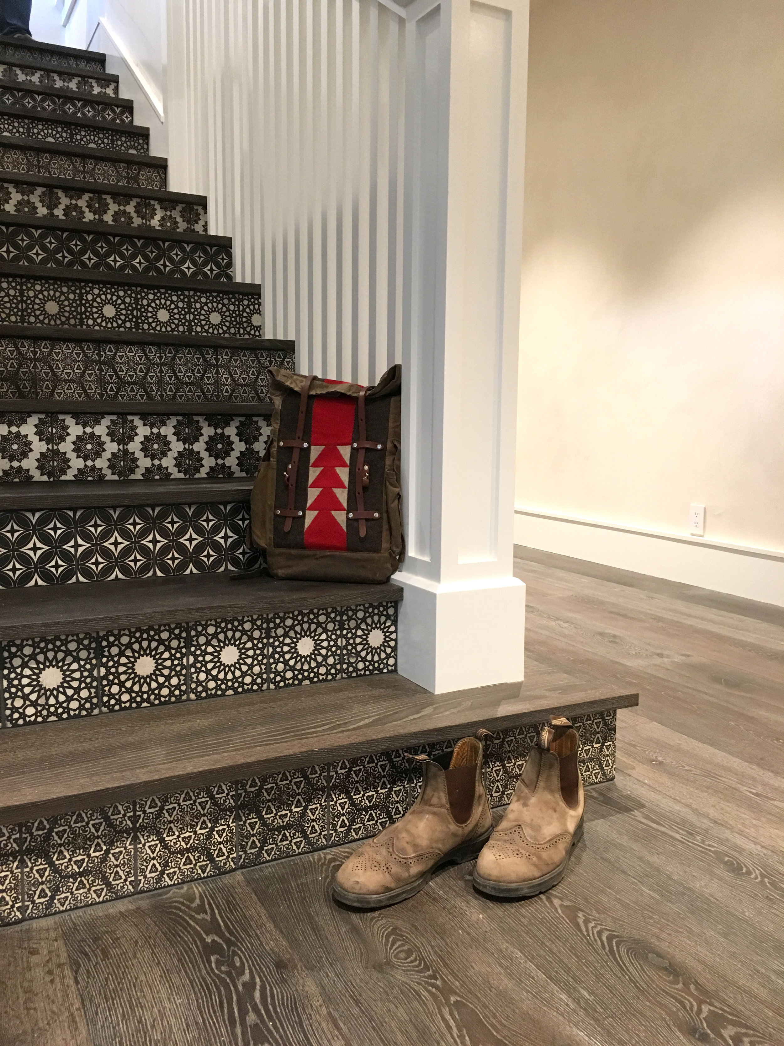Staircase Risers with Alternating Patterns