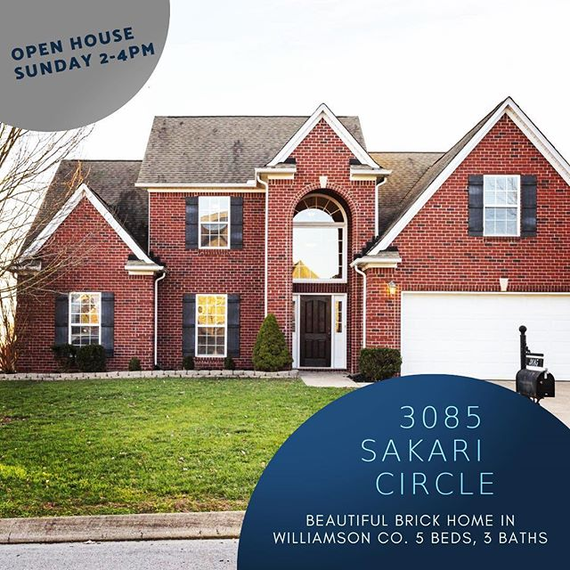 MLS #2034030 $379,900 Offered by David Lea of Benchmark Realty, LLC 615-585-9229. #springhilltn #realestate #openhouse #williamsoncountytn #benchmarkrealtyllc