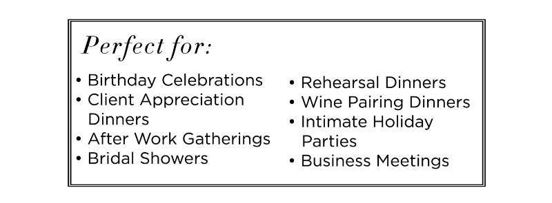 Private dining details