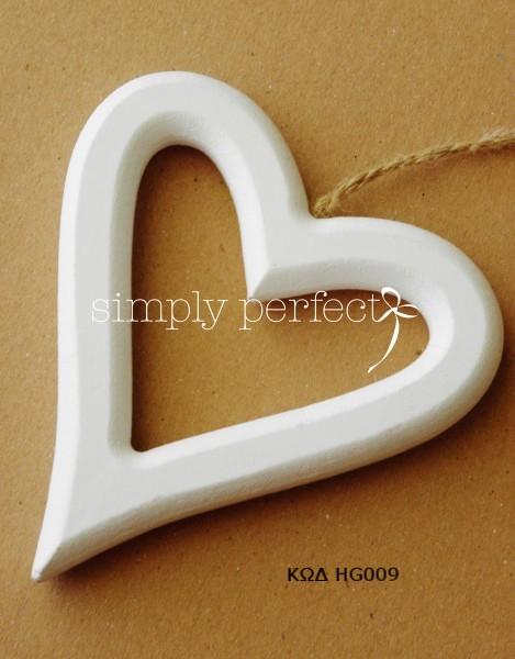 Μπομπονιέρα ξύλινη καρδιά: ΚΩΔ HG009