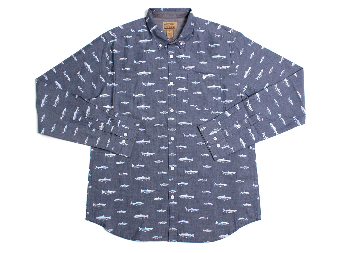 Cod LS Button Up - Navy