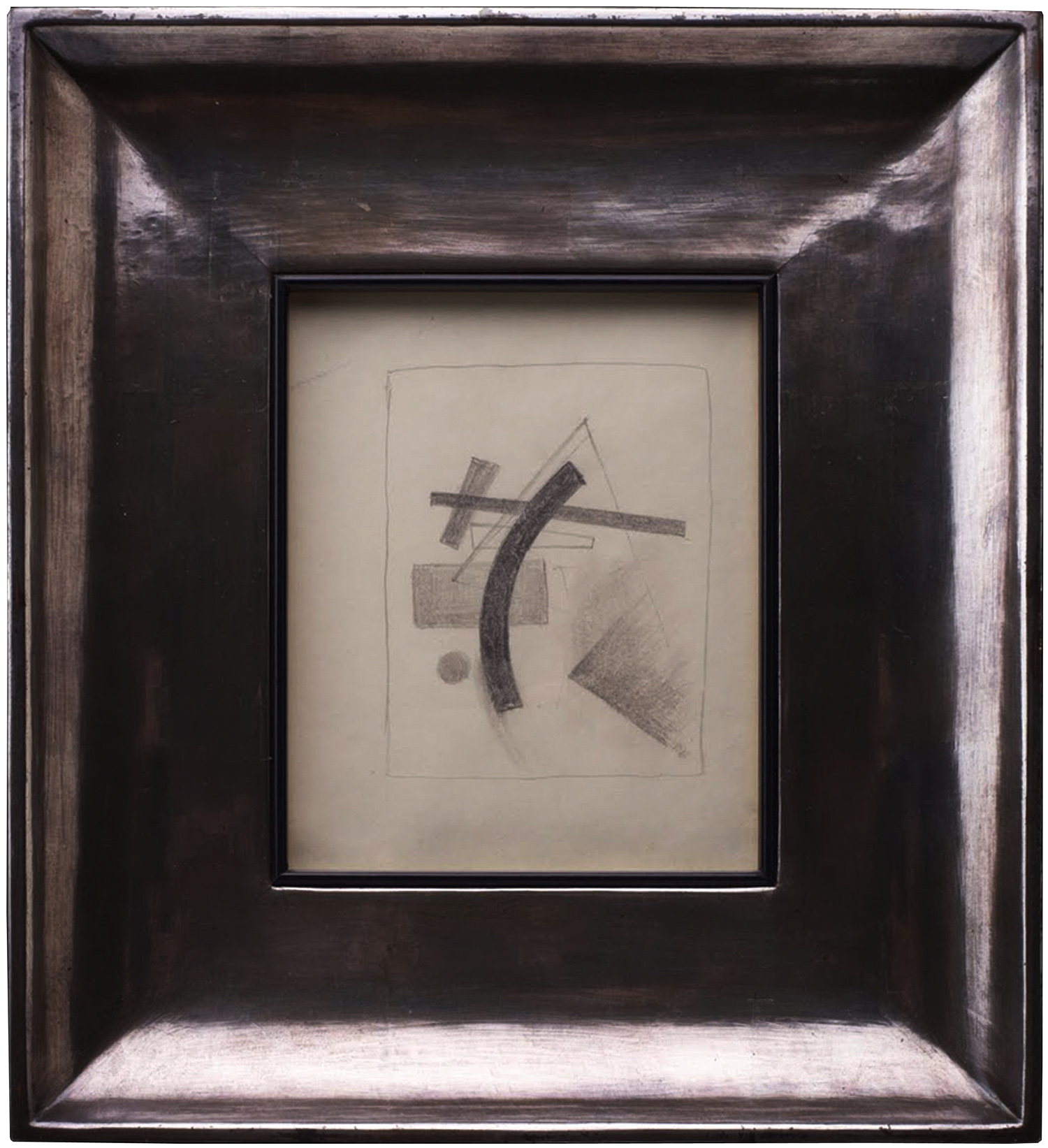 KNOWN WORK BY KASIMIR MALEVICH, IN ORIGINAL FRAME
