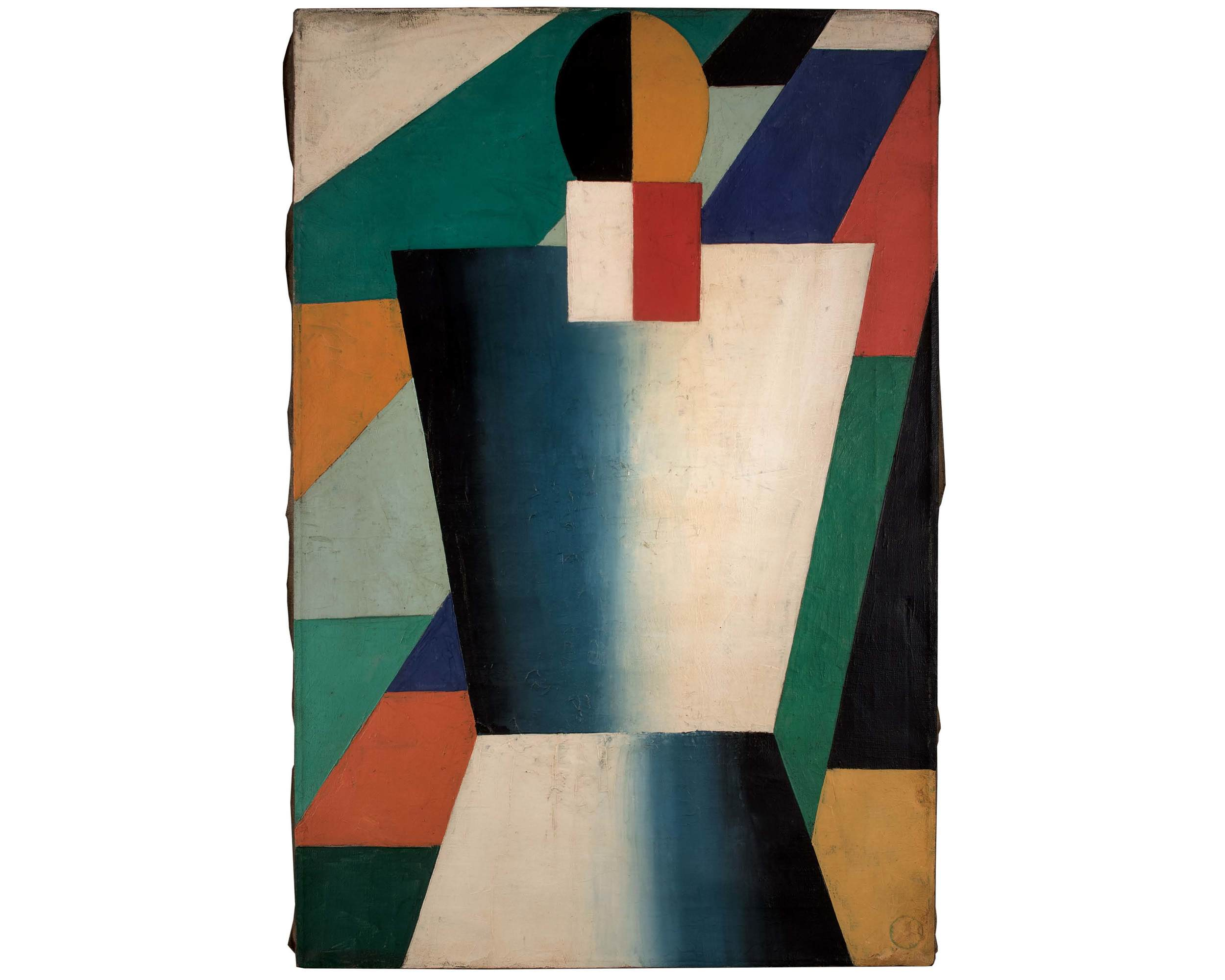 Unattributed. Unsigned. In the style of Kasimir Malevich.