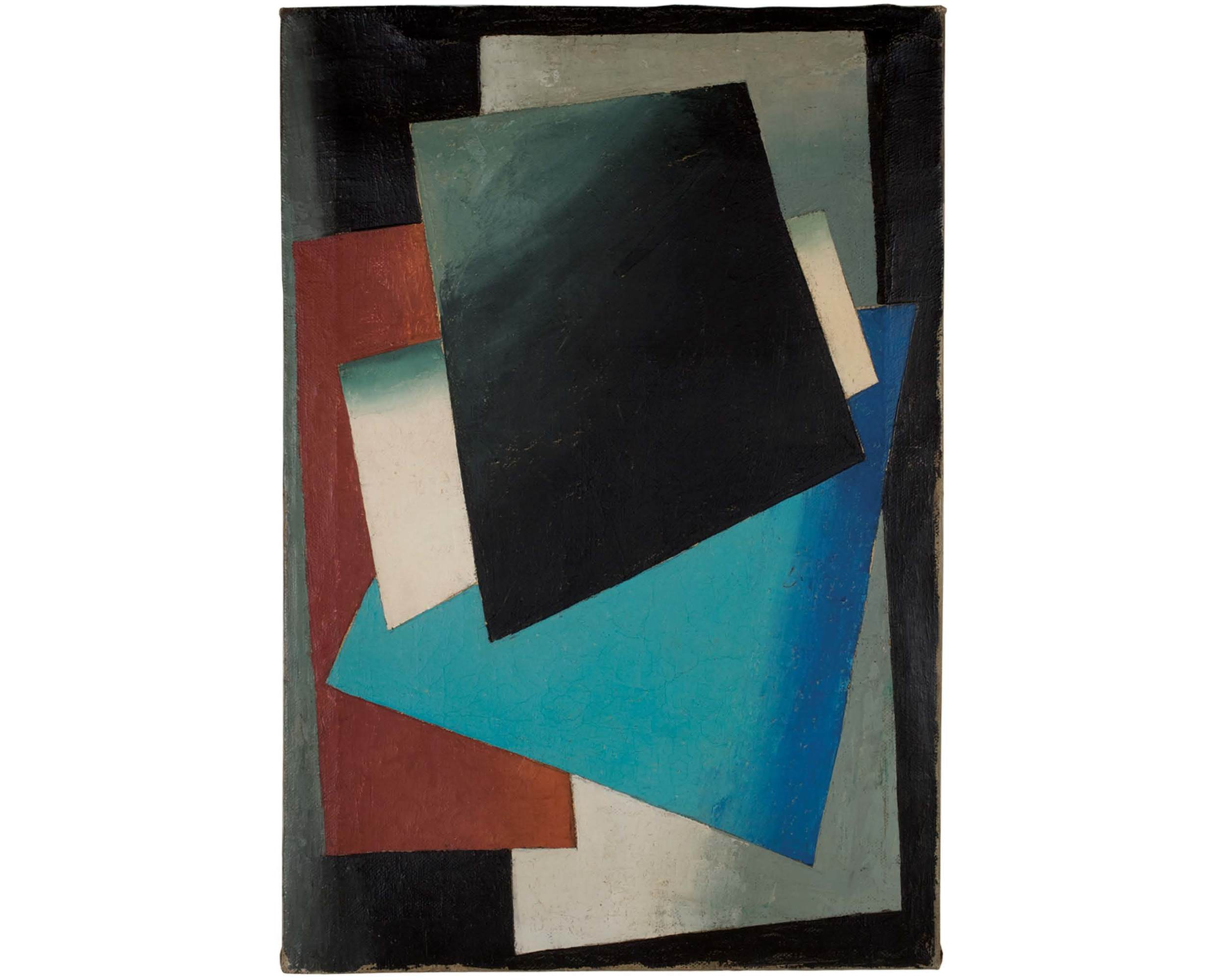 Unattributed. Unsigned.  In the style of Aleksandr Veslin orAlexander Rodchenko Oil on canvas. 55 x 38 cm.