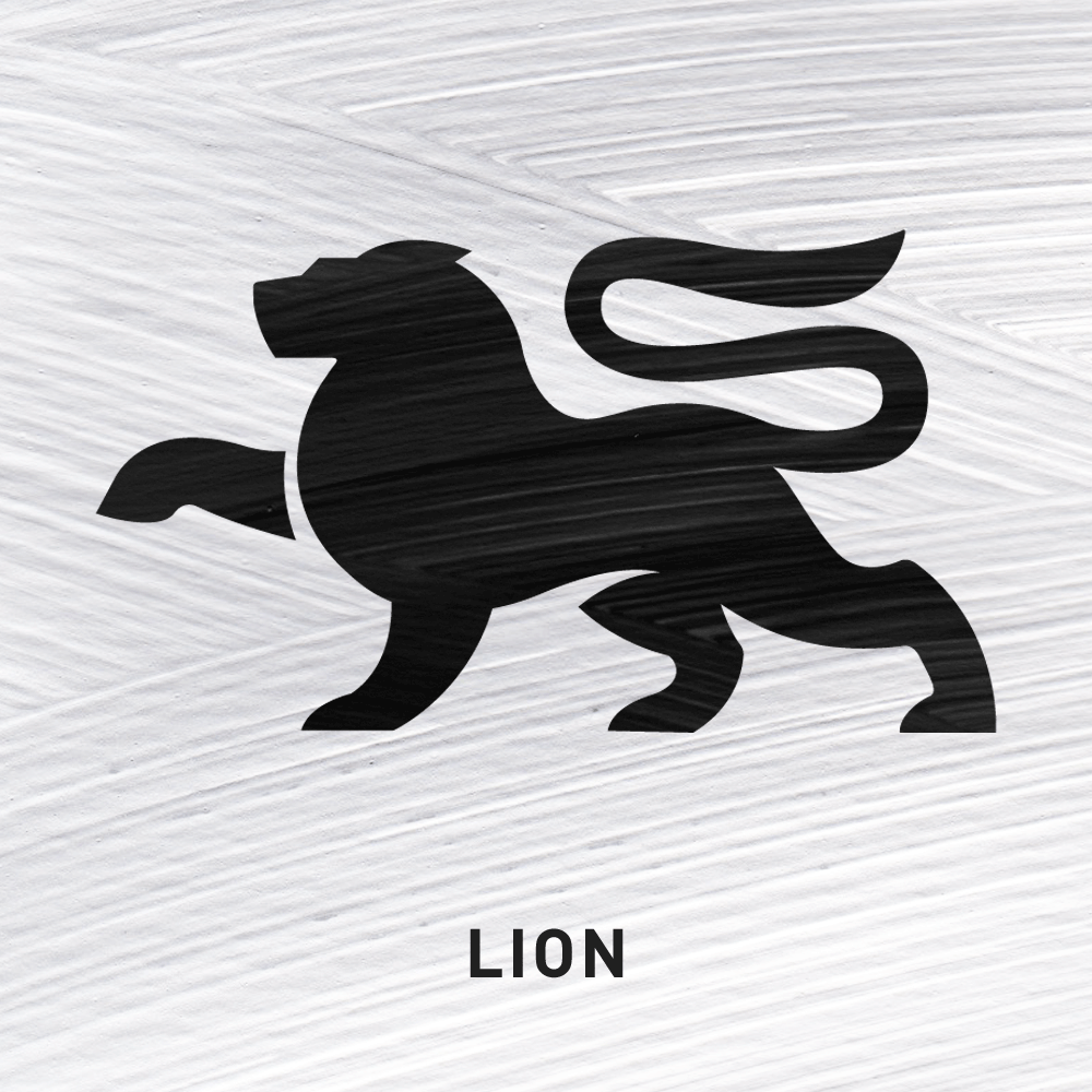 Lion Fierce Courage.      In Ireland the Lion represented the 'lion' season, prior to the full arrival of Summer. The symbol can also represent a great Warrior or Chief.